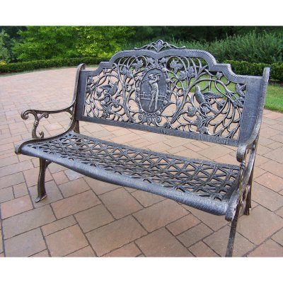 Sensational Outdoor Oakland Living Golfer Cast Aluminum 50 In Antique Pabps2019 Chair Design Images Pabps2019Com