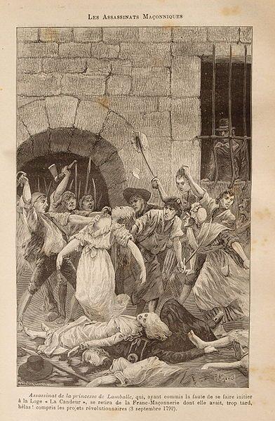 1792 Assassinat De La Princesse De Lamballe Gravure Dessinee Par Pierre Mejanel Et Gravee Par Francois Pa Revolution Francaise Franc Maconnerie Symbole Dessin