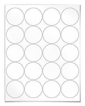 2 Inch Circle Labels Clear Color Circular Labels For Laser And Inkjet Printing Printable Label Templates Circle Labels Label Templates