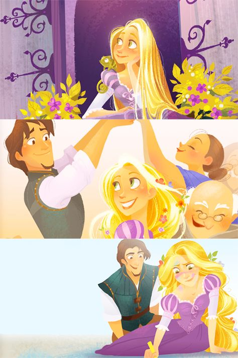 tangled art by brittany lee -- My sister has the Tangled story book illustrated by her and all of the art is so beautiful!