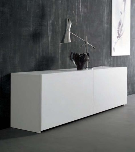 SQUARE contemporary sideboard with sliding doors SIDEBOARDS - k che sideboard mit arbeitsplatte