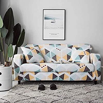 Amazon Com Nordmiex Stretch Sofa Slipcovers Fitted Furniture Protector Printed Sofa Cover Stylish Fabric Couch C With Images Printed Sofa Loveseat Covers Slipcovered Sofa