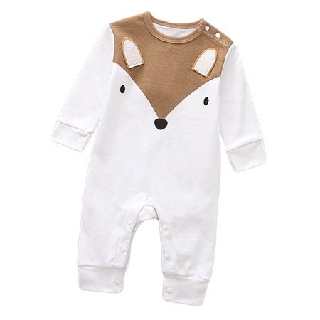 Cotton Baby Jumpsuits Cartoon Merry Christmas Long Sleeve Infant Boys Girls Playsuits
