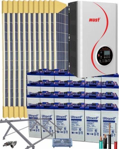 Kit Solar Aislada 1000w 12v 4000whdia Kit Solar Sistema De Energia Solar Calefaccion Solar