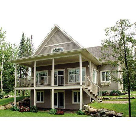 The House Designers Thd 1143 Builder Ready Blueprints To Build A Country House Plan With Walkout Basement Foundation 5 Printed Sets Walmart Com Sloping Lot House Plan Basement House Plans Cottage House Plans