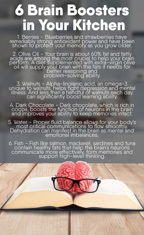 What are the 6 Brain Boosters in Your Kitchen