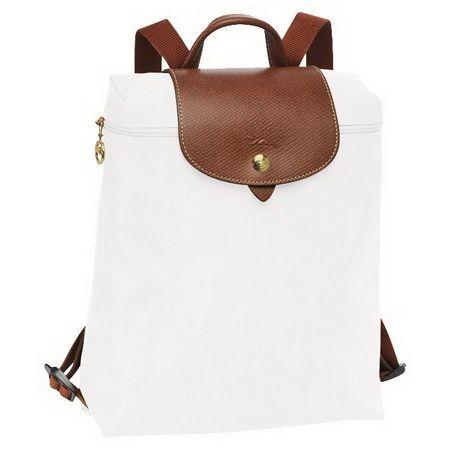 Longchamp Le Pliage Sac à dos zippé blanc | Longchamp backpack ...
