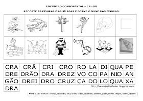 Varal De Atividades Encontro Consonantal Br Cr Dr Fr