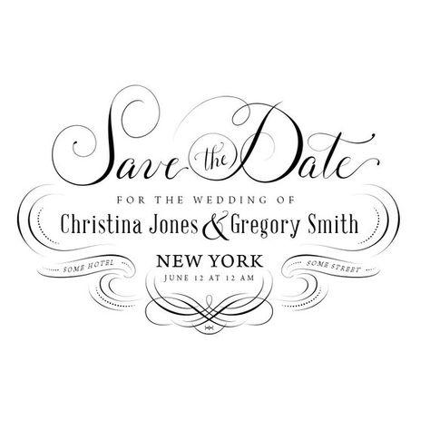 Wedding Invitation Psd Save The Date Calligraphic Design