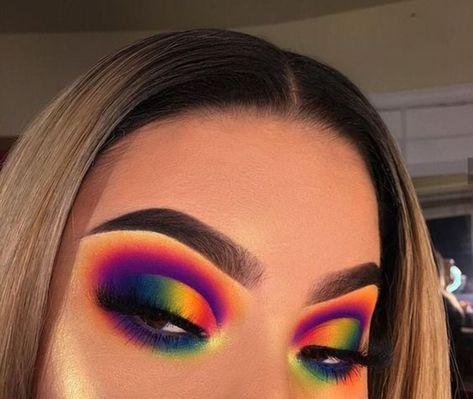 17 Maquiagens Arco Íris - Super Coloridas - Acho Tendência