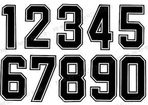 Jersey Number Font Images Football Jersey Number Font Jersey Number Jersey Font Number Fonts Sports Fonts