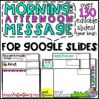 Morning Message Slide Templates For Google Drive With Images