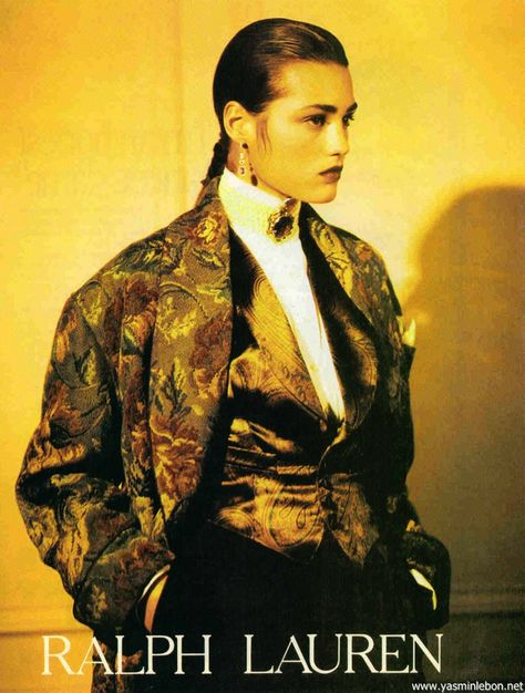 Yasmine Le Bon for Ralph Lauren Fall/Winter 1985