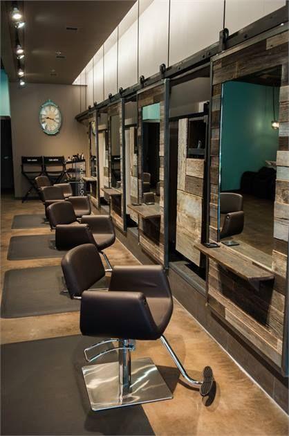 Pin By Cassie Kearney On Vision Board Rustic Salon Hair Salon Design Salon Interior Design