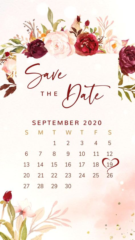 - Visit www.studiocreativethings.com to Order Yours! - Looking for a save the date ideas for your fall wedding? This rustic save the date calendar with blush & marsala flowers is the perfect way to invite your guests to your BIG day! Share your digital invitation via phone, WhatsApp, email or social media. Pin this + click through to see more floral save the dates for your rustic marsala wedding!