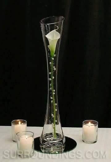 Centros De Mesa De Bodas Centros De Mesa Para Boda Economicos Y Elegantes Centros De Mesa Para B Vase Candle Centerpiece Candle Centerpieces Centerpiece Kits