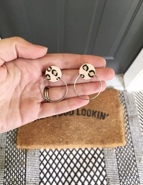 Excited to share this item from my shop: Handmade Minimalist Cheetah Studs Cute Polymer Clay, Fimo Clay, Polymer Clay Crafts, Polymer Clay Jewelry, Handmade Polymer Clay, Polymer Clay Ornaments, Polymer Clay Flowers, Polymer Clay Pendant, Clay Art For Kids