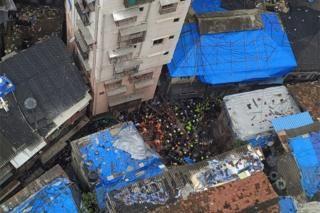 Dozens Trapped In Mumbai Building Collapse Collapse In Mumbai Mumbai