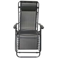 Magnificent Marquee Reclining Garden Sun Lounger Black Garden Sun Machost Co Dining Chair Design Ideas Machostcouk
