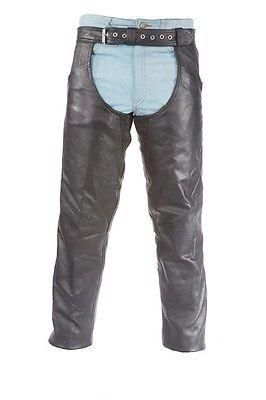 Men S Motorcycle Riders Classic Leather Chap Great Price Mens Leather Pants Classic Leather Leather Men