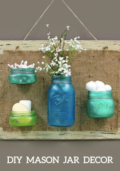 All you need to create this fun distressed-looking DIY Mason Jar Decor is Elmer's® glue-all, some food coloring, and a foam board.