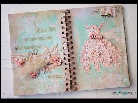 ▶ Mixed media artjournal , how to use stucco or modelingpaste . With a wink to Edgar Degas - YouTube