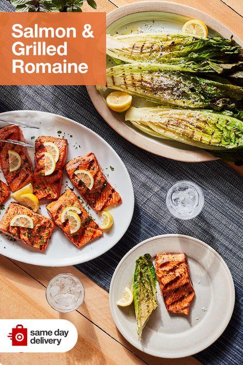 Salmon & Grilled Romaine