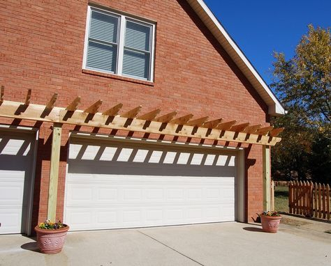 Lovely Pergola Over Garage 6 Trending - Inspirational garage door framing Contemporary
