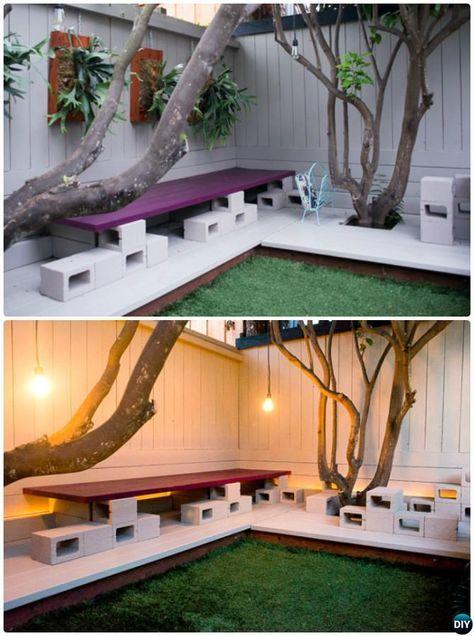 Diy Modern Cinder Block Bench 10 Concrete Block Home Decorating Projects Concrete Blocks Cinder Block Furniture Cinder Block Walls