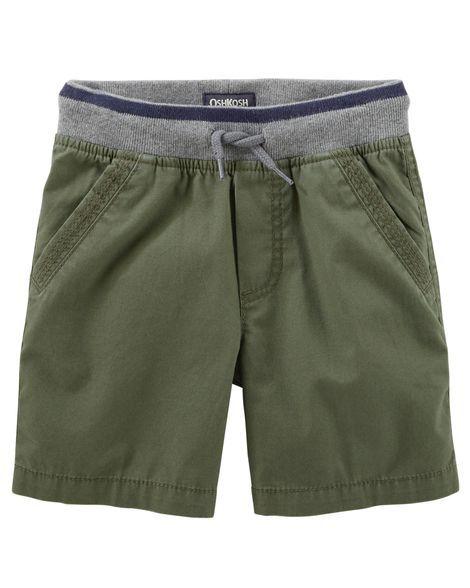 OshKosh Bgosh Little Boys Canvas Pull-On Shorts 4-Toddler