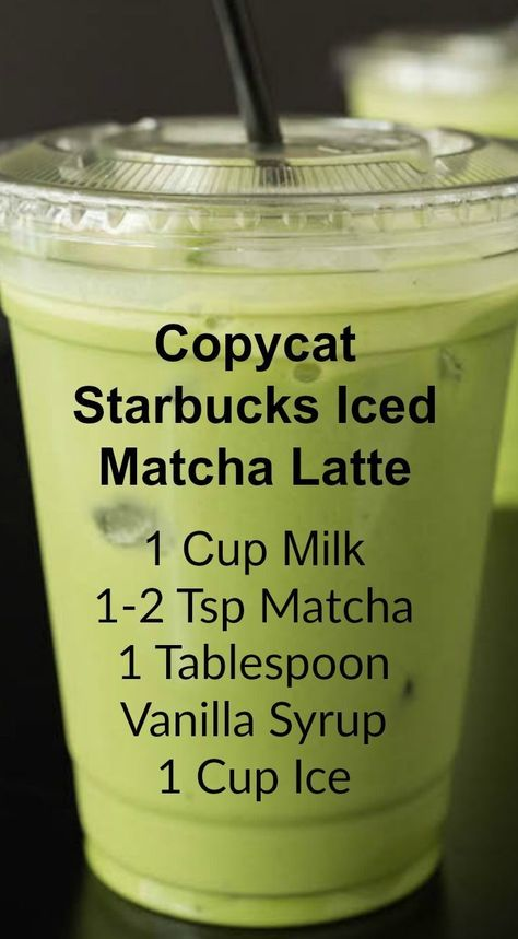 Copycat Starbucks Iced Matcha Latte ~ This copycat recipe shows you how to make your own Starbucks Iced Matcha Latte at home with just three ingredients.<br> Save money by making this copycat Iced Matcha Latte recipe that tastes exactly like Starbucks! Café Starbucks, Bebidas Do Starbucks, Sugar Free Starbucks Drinks, Juice Smoothie, Smoothie Drinks, Matcha Smoothie, Raw Vegan Smoothie, Matcha Chia Pudding, Coconut Milk Smoothie