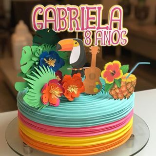 Aloha Uma Festa Bem Colorida Pra Gabriela Comemorar Seus 8