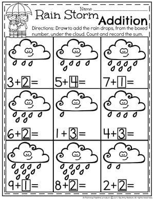 Addition Worksheets Kindergarten Math Worksheets Addition