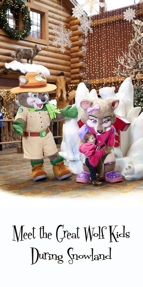 Meet Wiley the Wolf and the rest of the Great Wolf Kids during Snowland at Great Wolf Lodge.