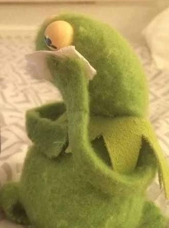 Pin On Sad Kermit