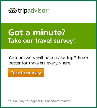Got a minute? Take our travel survey! Napa Valley Road trip 2016 - travel survey template