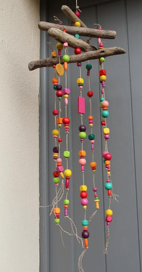 Cet article n'est pas disponible Crafts To Do, Home Crafts, Crafts For Kids, Arts And Crafts, Magic Crafts, Carillons Diy, Diy Wind Chimes, Driftwood Crafts, Camping Crafts