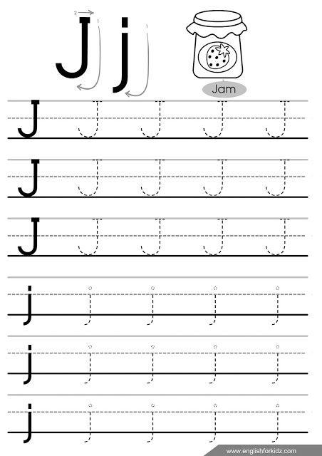 Letter j tracing worksheet | Tracing worksheets, Letter ...