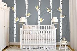Birch Tree Wall Decal For Nursery Or Playroom