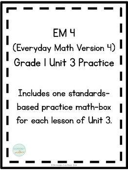 Em4 Everyday Math 4 Grade 1 Unit 3 Extra Practice Everyday Math Everyday Mathematics The Unit