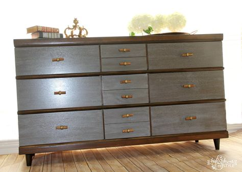 Woodland theme boys room Mid century modern dresser redo its not