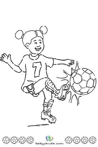 Madchen Spielt Mit Dem Ball Ausmalbild Ausmalbilder Kinder