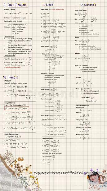 Catatan Tentang Kumpulan Rumus Matematika Clear Di 2021 Pelajaran Matematika Matematika Kelas 8 Kelas Tujuh