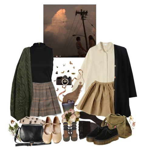 A fashion look from March 2016 by paperfreckles featuring JeanPaul Gaultier Goroke River Island Club Monaco Coach CERVIN Maison dusQ Nach and N. Edgy Outfits, Retro Outfits, Fall Outfits, Vintage Outfits, Cute Outfits, Fashion Outfits, Aesthetic Fashion, Aesthetic Clothes, Look Dark