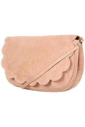topshop: scallop suede crossbody bag