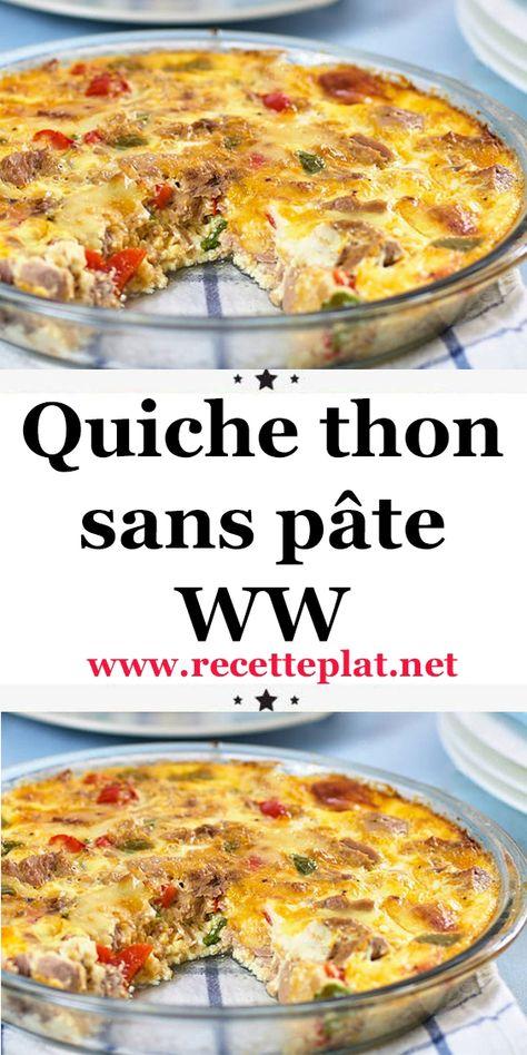 Quiche thon sans pâte WW
