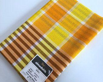 Made by Almedahls Sweden Scandinavian 60s modern woven vintage fabric  table cloth