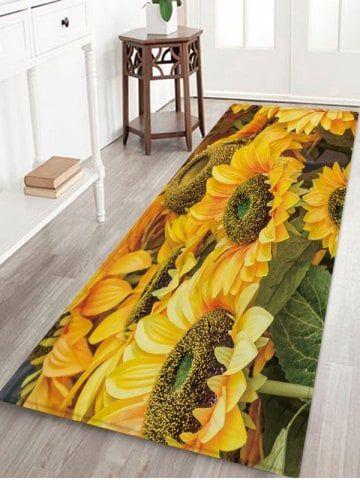 3d Sunflower Printed Floor Mat Printed Floor Mat Sunflower Print Floor Area Rugs