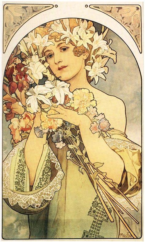 mucha, paris posters, paris inspiration, mucha poster, art noveau, paris vintage fashion