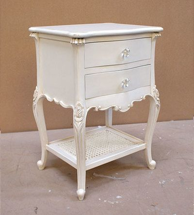 Chateau White Night Table Louis Xvi Style Country Furniture